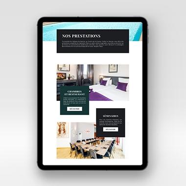 Le Noirlac site internet tablette