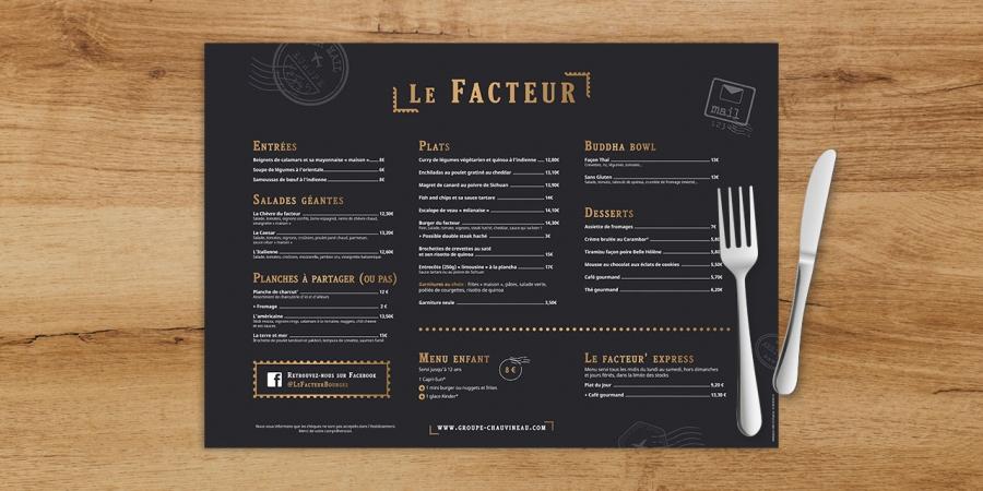 Le Facteur carte menu