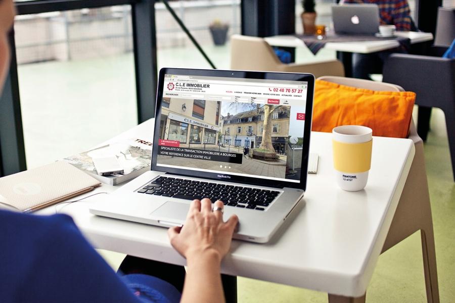 CLE IMMO site desktop